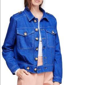 Free People Eisenhower jacket BLUE
